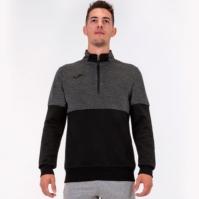 Bluza de trening Joma 1/2 Zipper negru-dark Melange