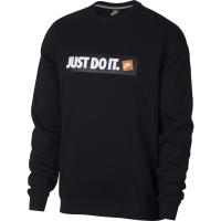Bluza sport Nike M NSW HBR Crew FLC negru 928699 010 barbati