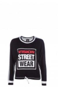 Bluza femei Batwing Black  Grey Vision Street Wear