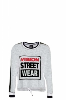 Bluza femei Batwing Grey  Black Vision Street Wear