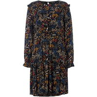 Bluza Label Lab Midnight ditsy floral print tie front