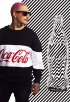 Bluza larga oversize Coca Cola cu dungi negru Merchcode