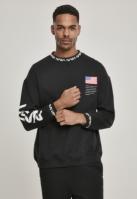 Bluza larga oversize NASA negru Mister Tee