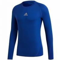 Bluza maneca lunga Adidas Alphaskin Sport albastru CW7323 pentru copii