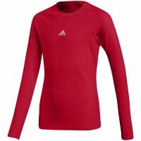Bluza maneca lunga Adidas Alphaskin Sport shirt rosu CW7321 pentru copii