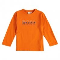 Bluza maneca lunga Boss Hugo Boss Tech Logo portocaliu