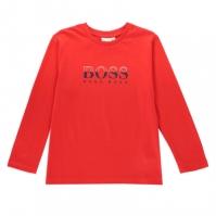 Bluza maneca lunga Boss Hugo Boss Tech Logo rosu 97e