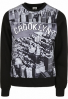 Bluza maneca lunga C&S WL Crooklyn Skyline negru-gri Cayler and Sons alb