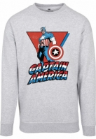 Bluza maneca lunga Captain America gri Merchcode