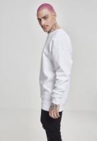 Bluza maneca lunga Embossed NASA Worm alb Mister Tee