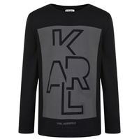 Bluza maneca lunga Karl Lagerfeld Skool pentru baieti