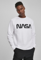 Bluza maneca lunga NASA EMB alb Mister Tee