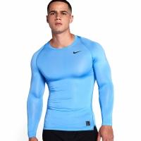 Bluza maneca lunga Nike Pro Cool compresie jersey albastru 703088 412 barbati