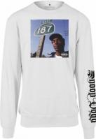 Bluza maneca lunga Snoop Dogg California alb Merchcode