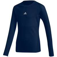 Bluza maneca lunga Adidas Alphaskin Sport bleumarin CW7322 pentru copii teamwear adidas teamwear
