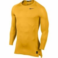 Bluza maneca lunga Nike Pro Cool compresie galben 703088 739 pentru barbati