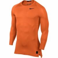 Bluza maneca lunga Nike Pro Cool compresie portocaliu 703088 815 pentru barbati