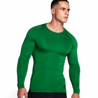 Bluza maneca lunga Nike Pro Cool compresie verde 703088 302 pentru barbati