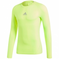 Bluza maneca lunga barbati adidas Alphaskin Sport galben CW9509