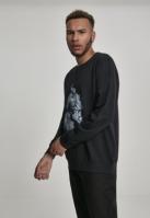 Bluza maneca lunga Tupac Smoke negru Mister Tee