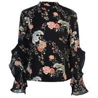 Bluza Full Circle Print Frill pentru Femei