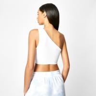 Bluza scurta Slazenger x Sophia & Cinzia One Shoulder alb
