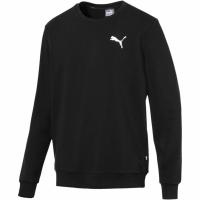 Bluza sport barbati Puma Ess Logo Crew Sweat negru 851752 21