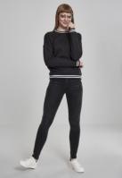Bluza sport College pentru Femei negru-negru Urban Classics