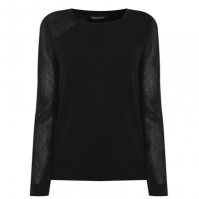 Bluze cu guler rotund DKNY cu Maneca Lunga plasa