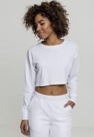 Bluza sport scurta Terry pentru Femei alb Urban Classics