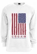 Bluza bumbac cu mesaje CREAM Flag alb Mister Tee
