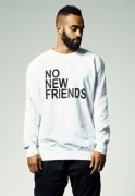 Bluza trening No New Friends alb Mister Tee