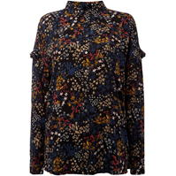 Bluza Label Lab Midnight ditsy floral print