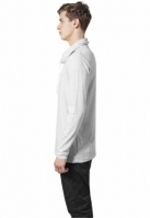 Bluze cu guler inalt cu maneca lunga gri deschis Urban Classics