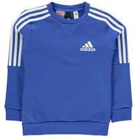 Bluze cu guler rotund adidas 3 cu dungi Logo pentru baietei