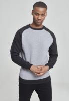 Bluze cu guler round doua culori gri-negru Urban Classics