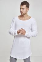 Bluze cu maneca lunga waffle alb Urban Classics