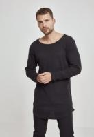 Bluze cu maneca lunga waffle negru Urban Classics