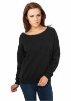 Bluze dama simple cu guler larg negru Urban Classics