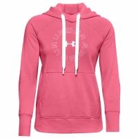 Bluze Hanorac Under Armor Rival Metallic roz 1356323 668 pentru femei