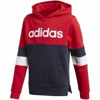 Hanorac Adidas Linear CB cu cu gluga rosu bleumarin GD6331 pentru Copii