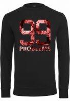 Bluze barbati fashion cu mesaje 99 Problems negru Mister Tee