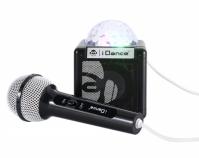Boxa Bluetooth Cu Lumini Disco Si Microfon Cube Idance Negru