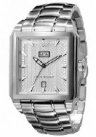 Bratari Ceas Emporio Armani Mod clasic Square, Day, Date, Ss Case & , Silver Dial
