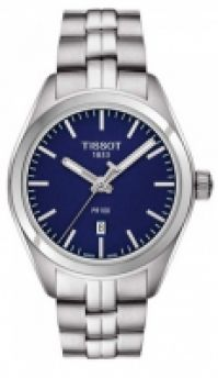 Ceas Bratari Tissot Mod Pr100 - albastru Dial - - Quartz - Data - Swiss Made