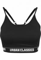 Bustiera sport pentru Femei negru Urban Classics