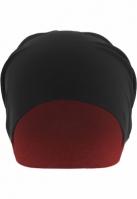 Caciula Beanie Jersey cu doua fete negru-rosu MasterDis