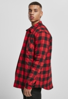 Camasa flanela cu captuseala Check negru-rosu Urban Classics
