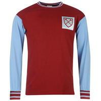 Camasi cu maneca lunga Score Draw Draw West Ham United 1966 Home pentru Barbati