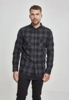 Camasi in carouri barbati negru-gri Urban Classics carbune
